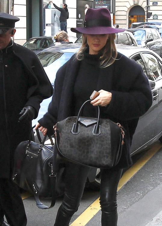 Celebrity Handbags at Paris Fashion Week Fall 2014-4