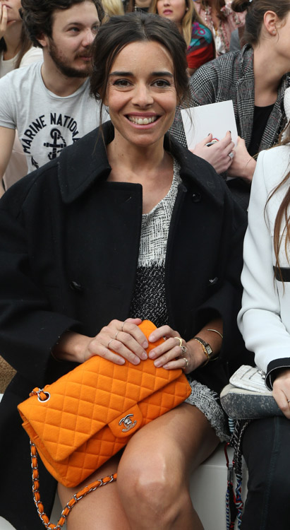 Celebrity Handbags at Paris Fashion Week Fall 2014-49