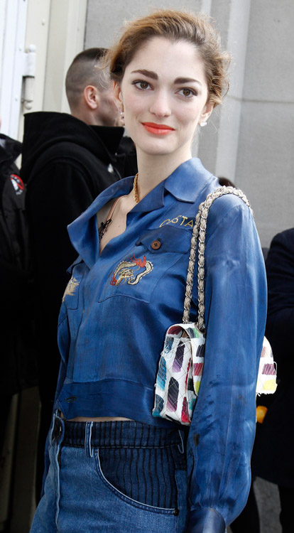 Celebrity Handbags at Paris Fashion Week Fall 2014-56