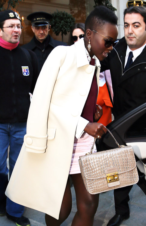 Celebrity Handbags at Paris Fashion Week Fall 2014-61