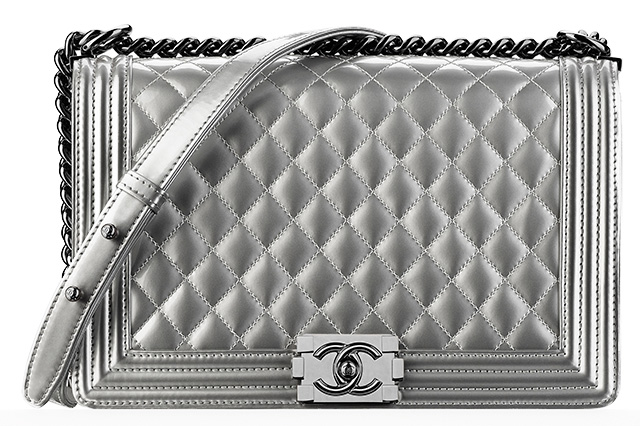 Chanel Boy Bag Silver
