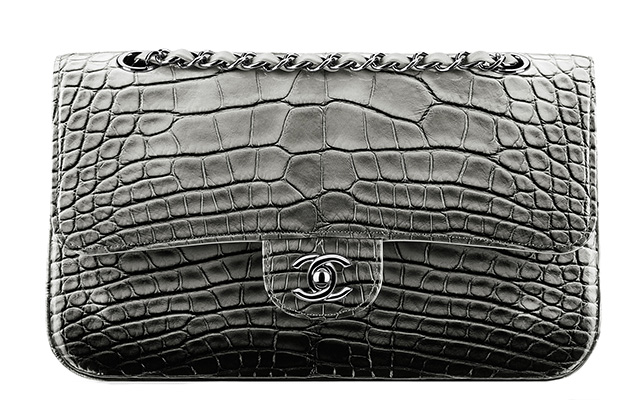 Chanel Faded Alligator Classic Flap Bag