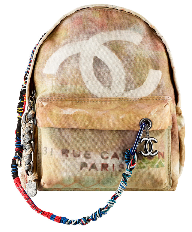 Chanel Graffiti Backpack - Tan
