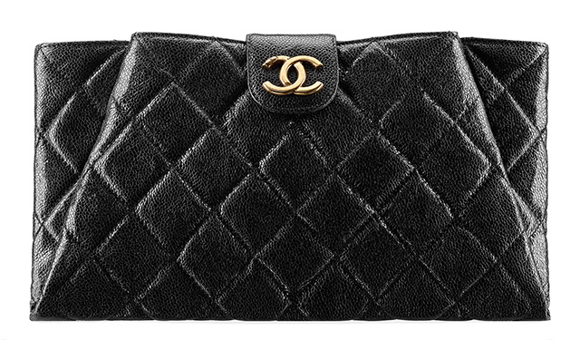 Chanel Grained Calfskin Clutch