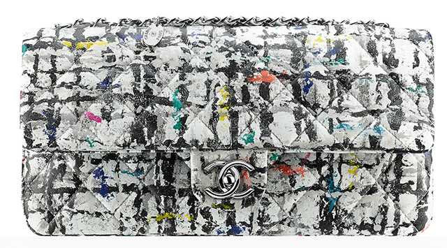 Chanel Hand Painted Graffiti Flap Bag