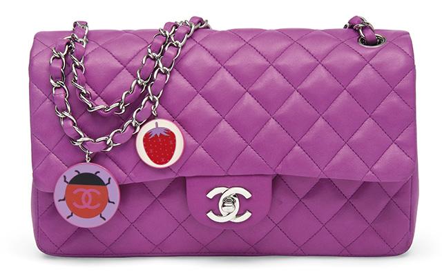 Chanel Limited Edition Ladybug Charm Single Classic Flap Bag