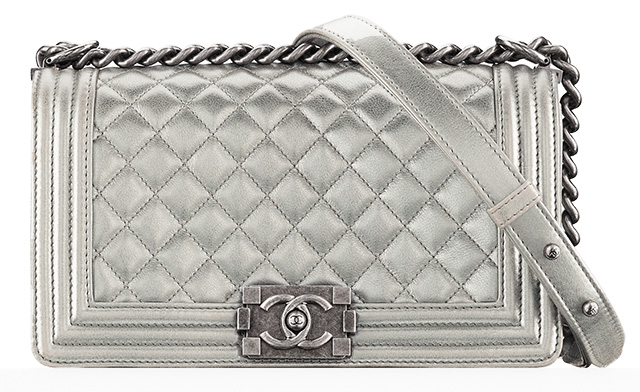 Chanel Medium Flap Bag - Silver