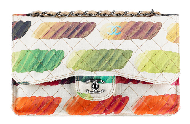 Chanel Paint Palette Print Classic Flap Bag