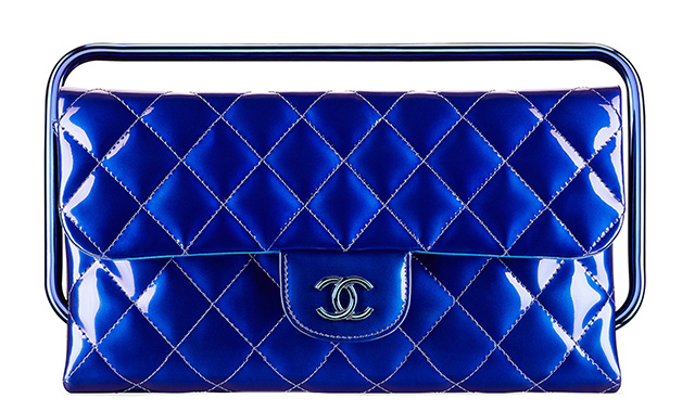 Chanel Patent Clutch Blue