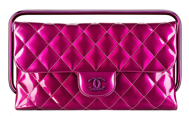 Chanel Patent Clutch Pink
