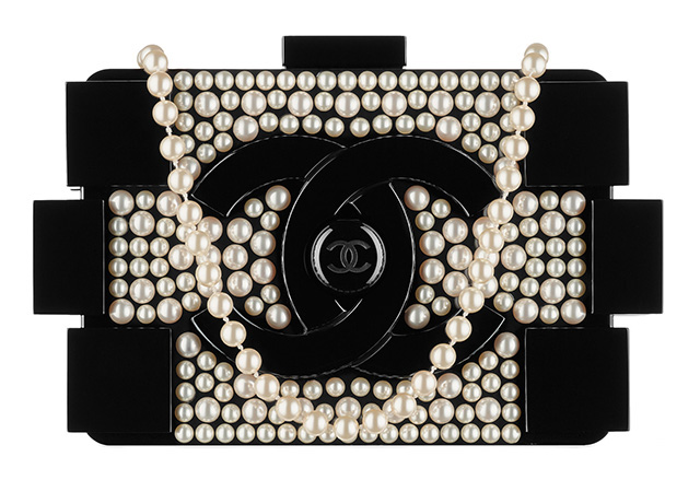 Chanel Pearl Boy Brick Clutch