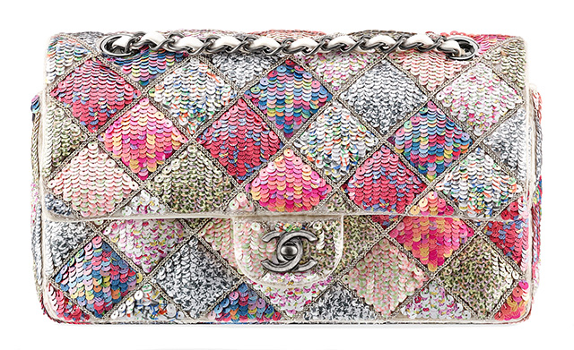 Chanel Sequin Quilted Classic Flap Bag