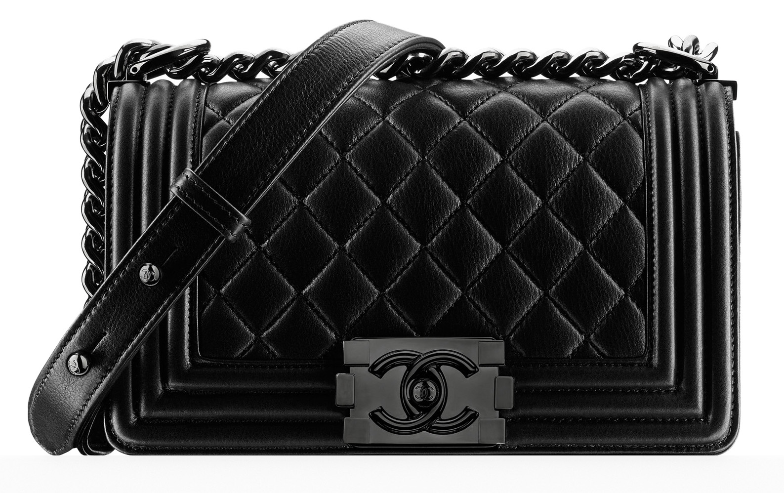 Chanel Small Boy Bag Black