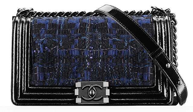 Chanel Tweet Boy Bag Blue