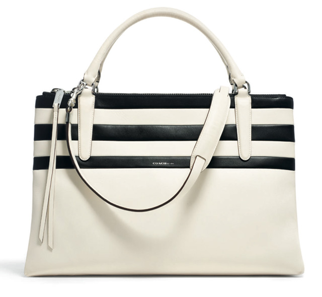 Coach Bar Stripe Borough Bag