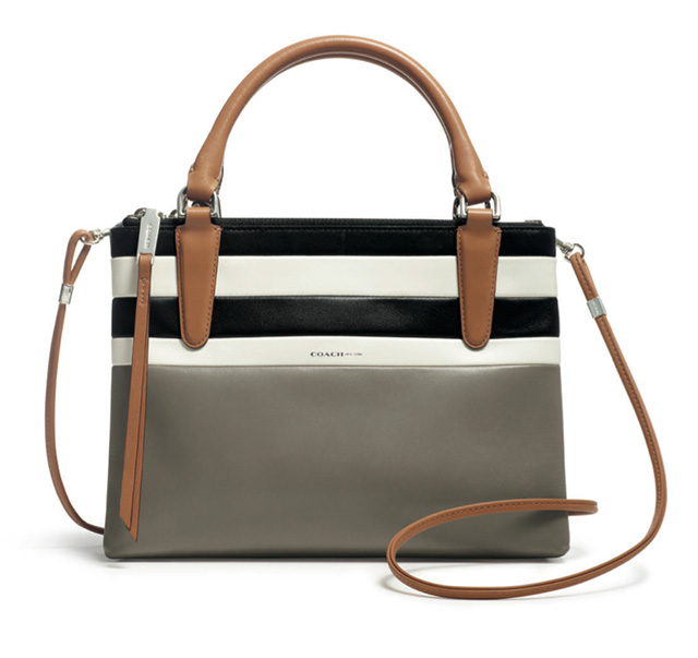 Coach Bar Stripe Mini Borough Bag