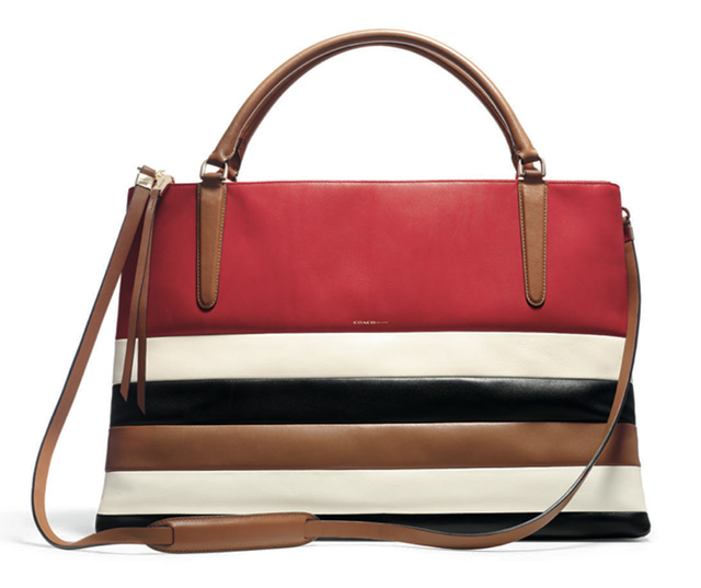 Coach Stripe Borough Bag