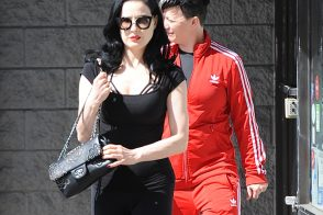 Dita Von Teese Chooses a Chanel Bag After Her Workout