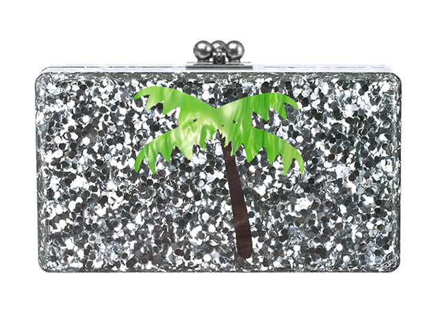 Edie Parker Palm Tree Jean Clutch