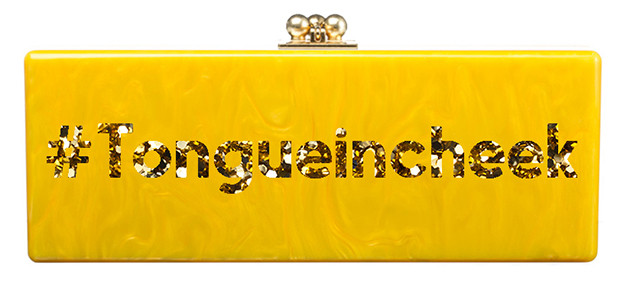 Edie Parker Tongue in Cheek Clutch