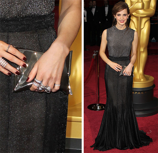 Emma Watson Anya Hindmarch Crisp Packet Clutch