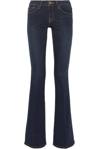 Frame Denim Le Skinny Flare Mid-Rise Jeans