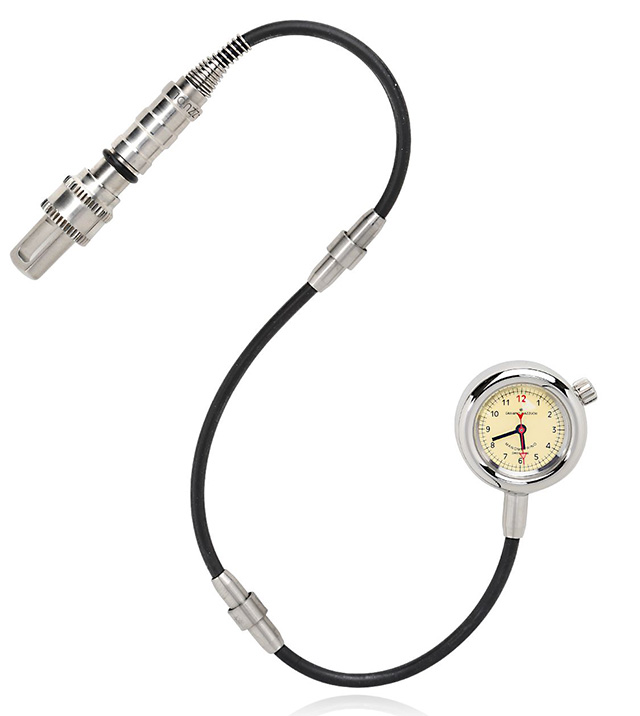 Giuliano Mazzuoli Manometrino Polished Steel Pocket Watch