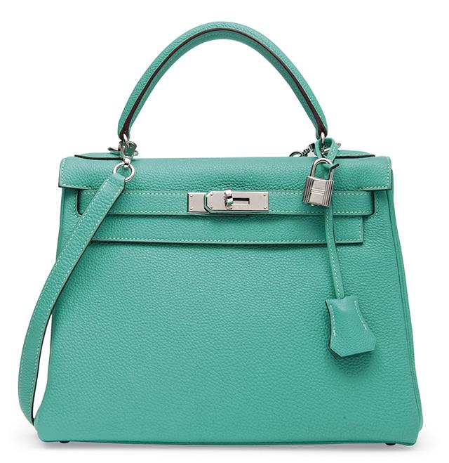 Hermes Kelly Bag Menthe