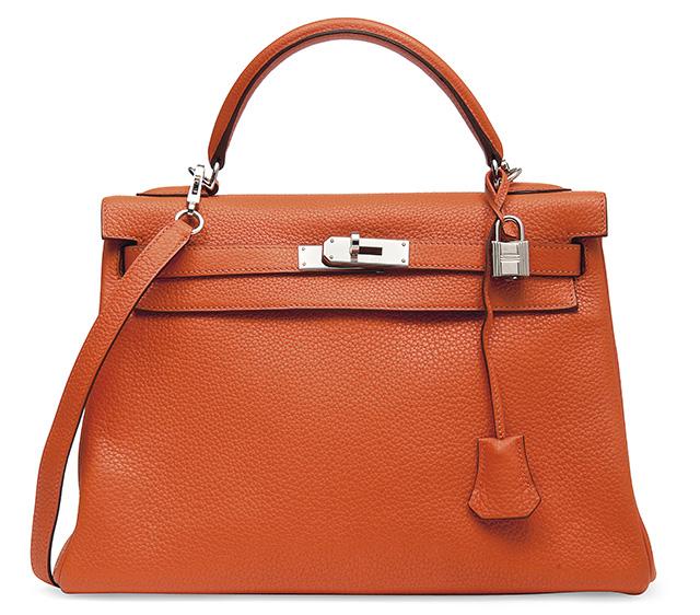 Hermes Kelly Bag Orange