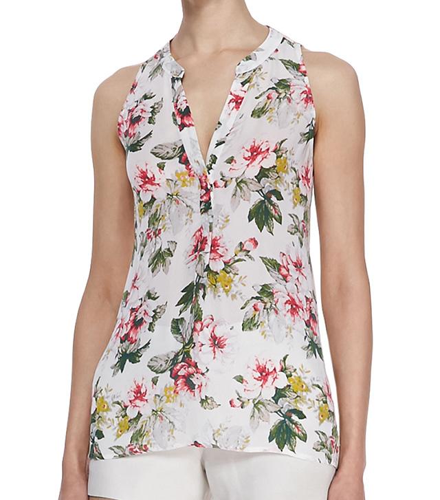 Joie Aruna Floral Silk Blouse