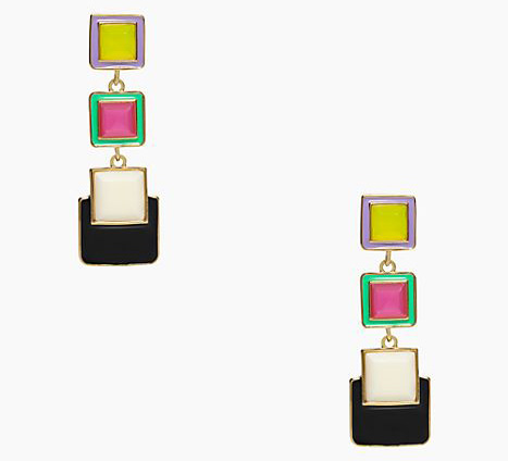 Kate Spade Color Wheel Statement Earrings