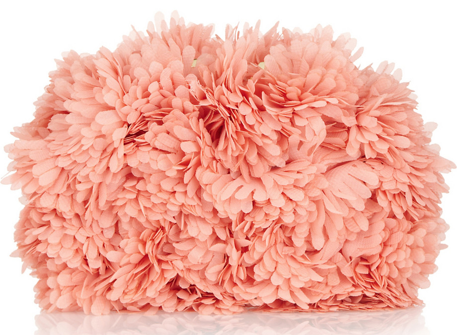 Kotur Margo Tulle Floral Applique Clutch