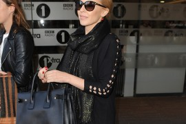 Kylie Minogue Carries Saint Laurent in London