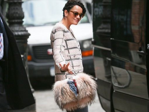 Lily Allen Fendi Fur Peekaboo Bag