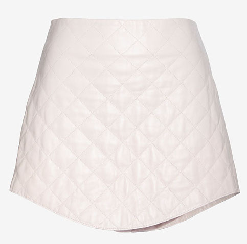 Love Leather Exclusive Quilted Mini Skirt