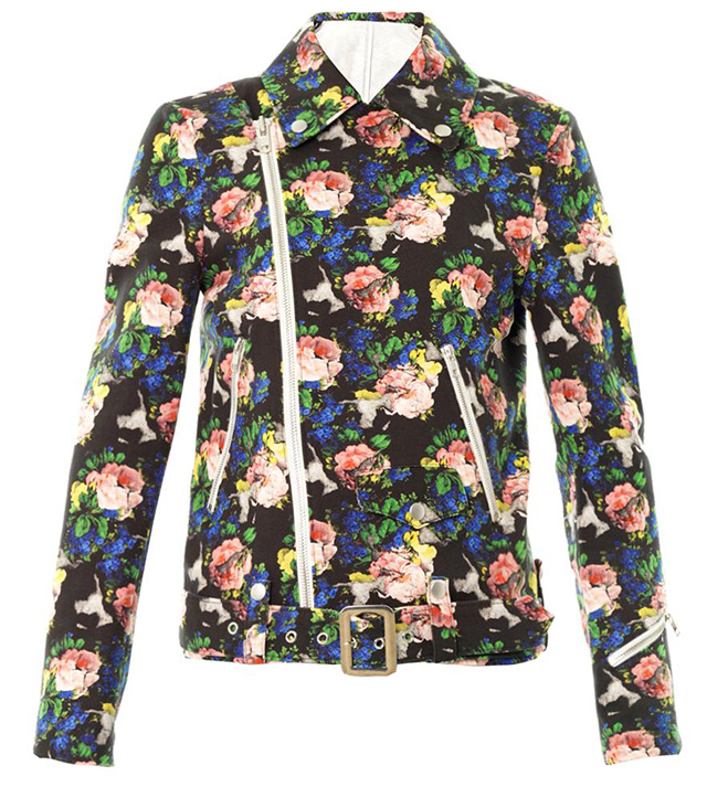 MSGM Floral Cotton Biker Jacket