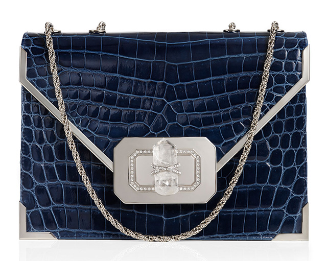 Marchesa Valentina Crocodile Shoulder Bag