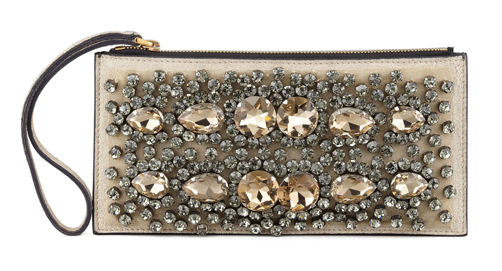 Marni Crystal Embroidered Wristlet