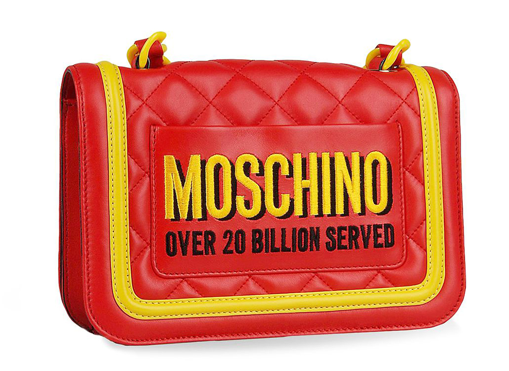 Moschino Junk Food Capsule Collection Quilted Leather Bag Rear