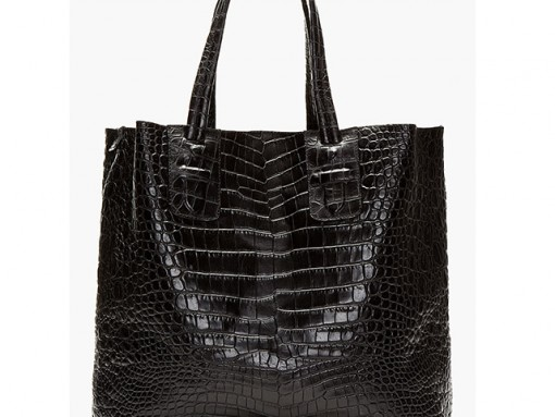 Neil Barrett Embossed Croc Tote