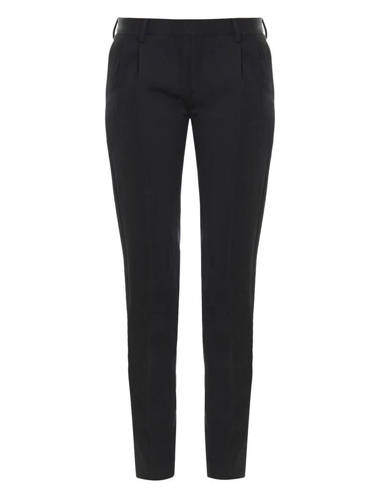 Saint Laurent Grain de Poudre Wool Trousers