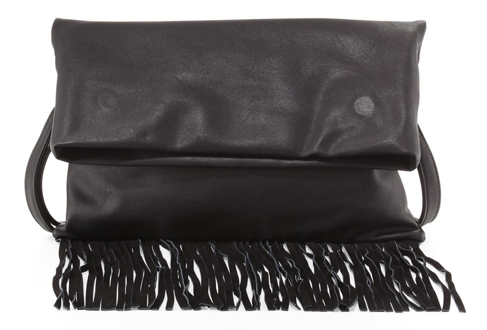 Urban Originals Fringe Fold-Over Clutch