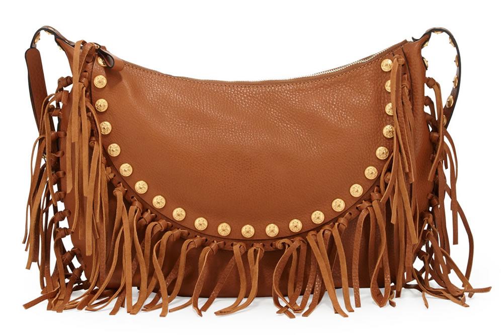 Valentino C-Rockee Studded Fringe Hobo Bag