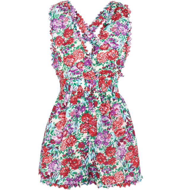 ZIMMERMANN Verano floral-print cotton-blend voile playsuit