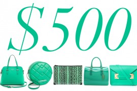 5 Under $500: Minty Fresh Bags