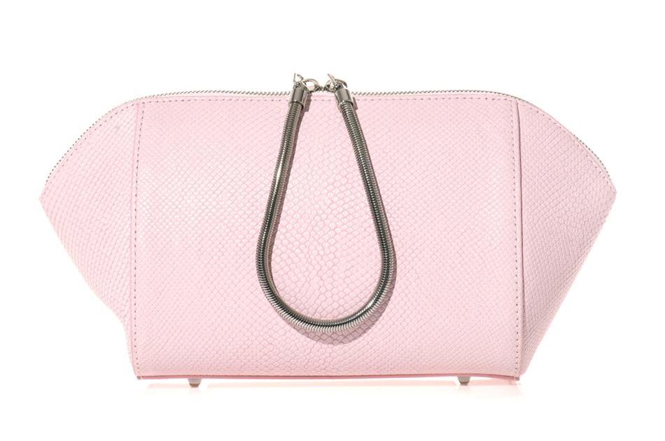ALEXANDER WANG Chastity leather clutch