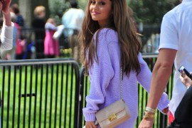 Ariana Grande Arrives at the White House with a Chanel Bag
