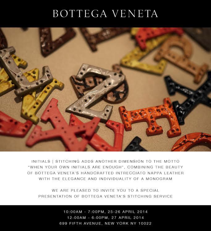 Bottega Veneta Initials Invite