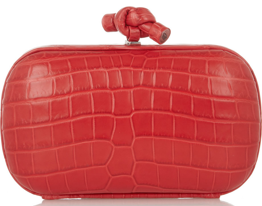 Bottega Veneta The Knot Crocodile Clutch
