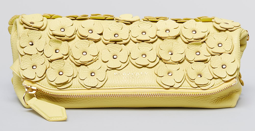 Burberry Prorsum Leather Flower Petal Clutch